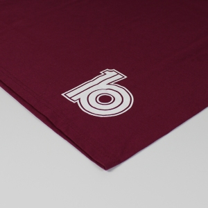 burgundy back detail