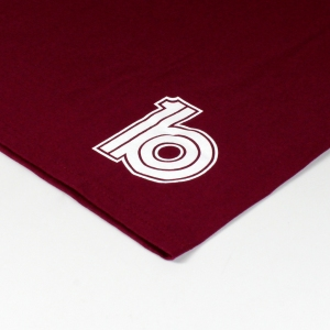 burgundy back logo