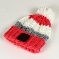 coral bobble hat 1