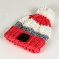 coral bobble hat 1