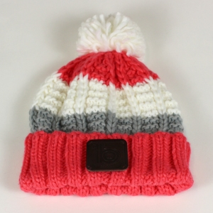 coral bobble hat 2