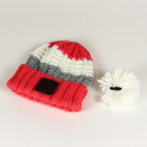 coral bobble hat 4
