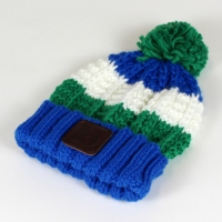 green bobble hat 1