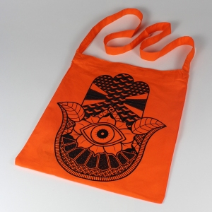 hand sling tote orange 1