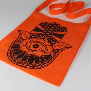 hand sling tote orange 2
