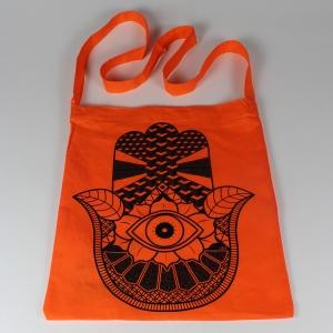 hand sling tote orange 4
