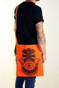 hand sling tote orange 5
