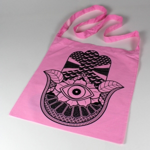 hand sling tote pink 1