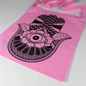 hand sling tote pink 2