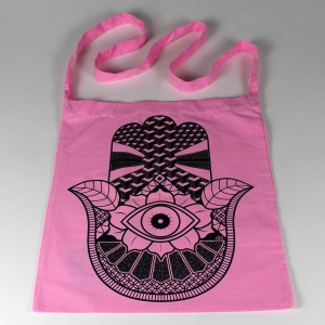 hand sling tote pink 4