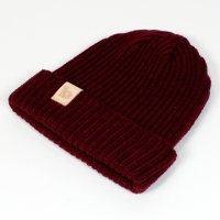 burgundy fisherman's beanie 2