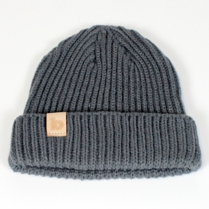 grey fisherman's beanie 1